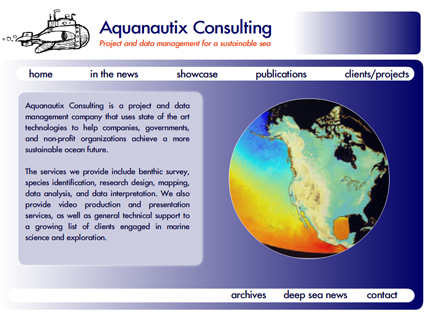 Aquanautix new website by Melloweb Design