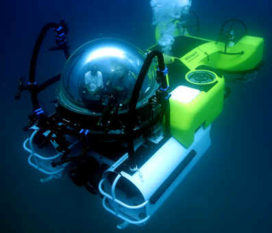 DeepSee submersible, depth rated to 475 m