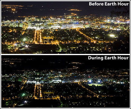 Cities around the world shut the lights at 8:30pm.