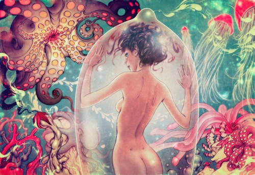 """""""Tame version"""" of an AIDS awareness poster by Fables cover artist James Jean"""