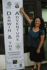 Karen and the banner created by our hosts here!