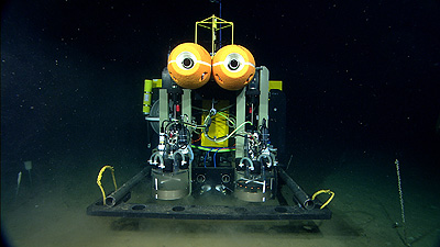 Image credit: (c) 2007 MBARI  The Benthic Rover on the seafloor off Central California