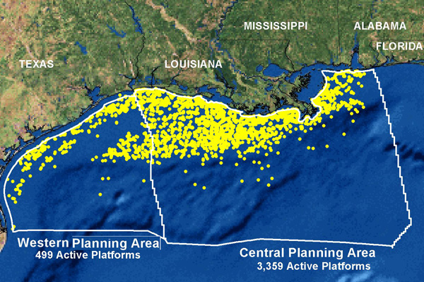 Take a guess on how may oil rigs exist in the Gulf of Mexico alone?  Nearly 4000.  All of them are regulated as well as BP's Deep Horizon.
