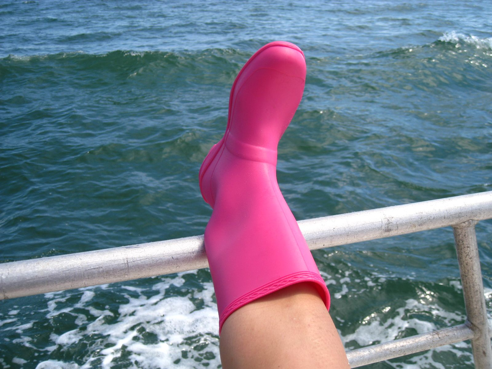My awesome pink boots