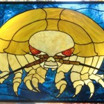 Giant Isopod Stained Glass Panel