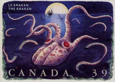 This one's for you David! Click for a website of Kraken stamps from around the world!