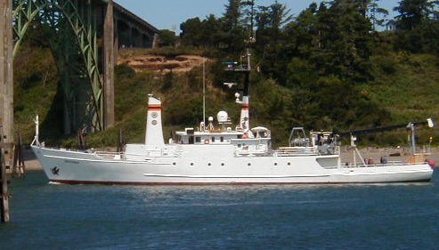 R/V WECOMA is owned by the National Science Foundation and operated under a Cooperative Agreement by Oregon State University, College of Oceanic & Atmospheric Sciences. The vessel is homeported in Newport, Oregon.
