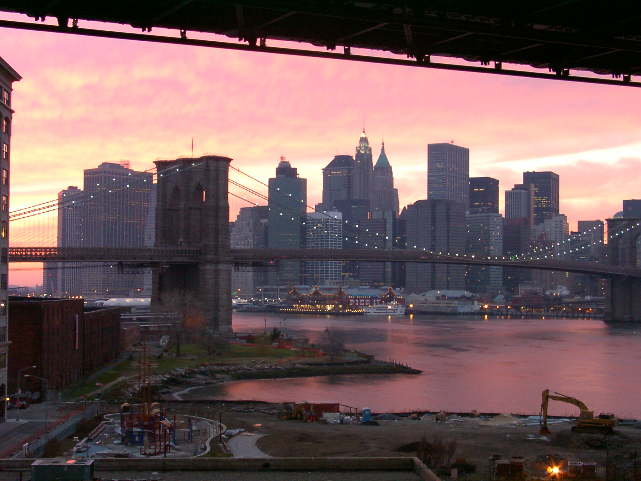 The view from my DUMBO loft Dec 2000