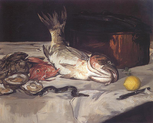 Édouard Manet, Fish (Still Life), via Feasting on Art