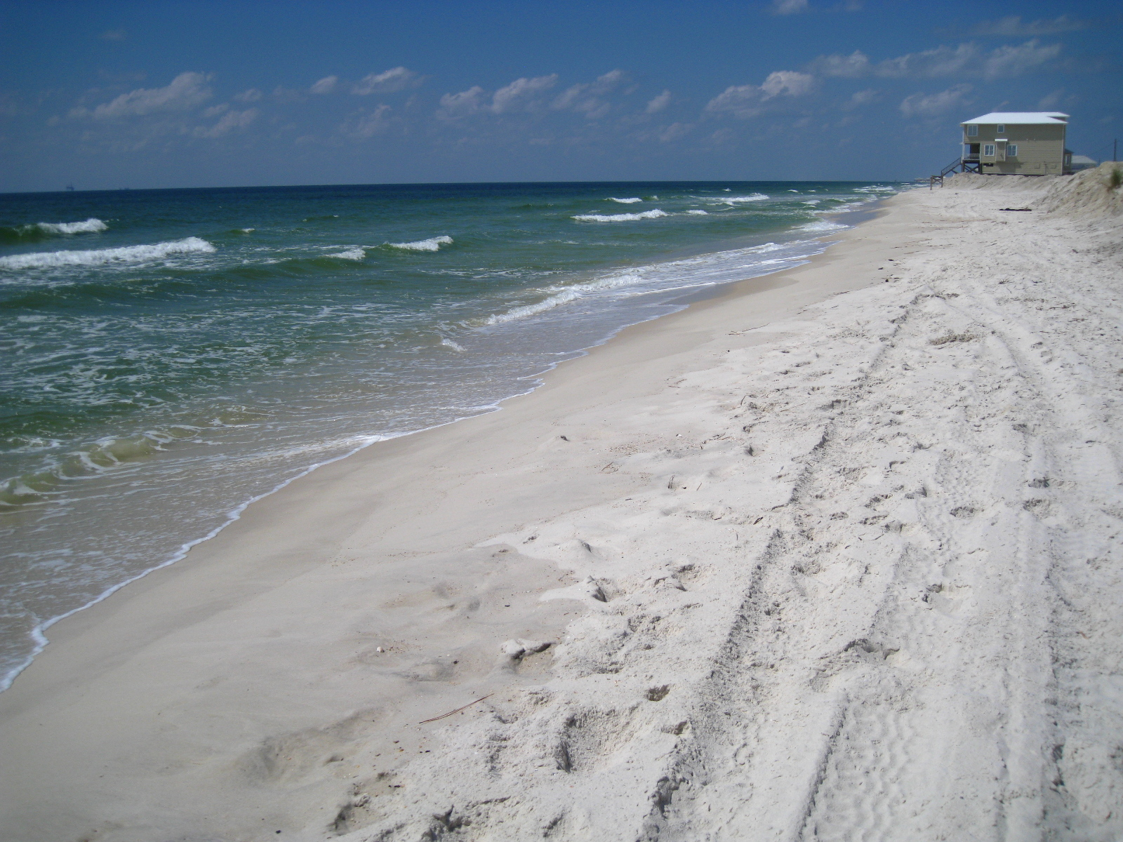 The post-spill beach in front of Ryan Court, Dauphin Island, Alabama (Sept 2010)