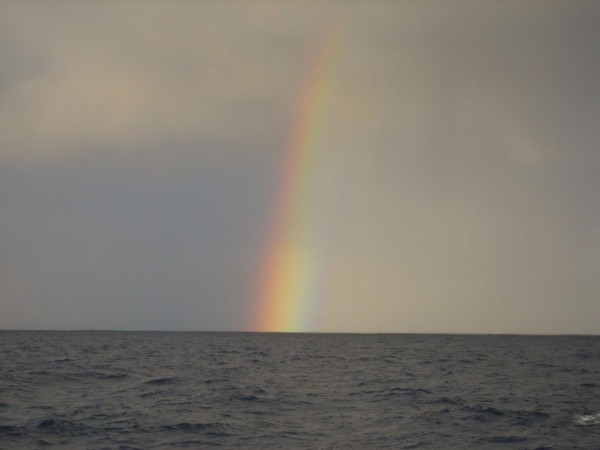 Rainbow over the Great Pacific Garbage Patch