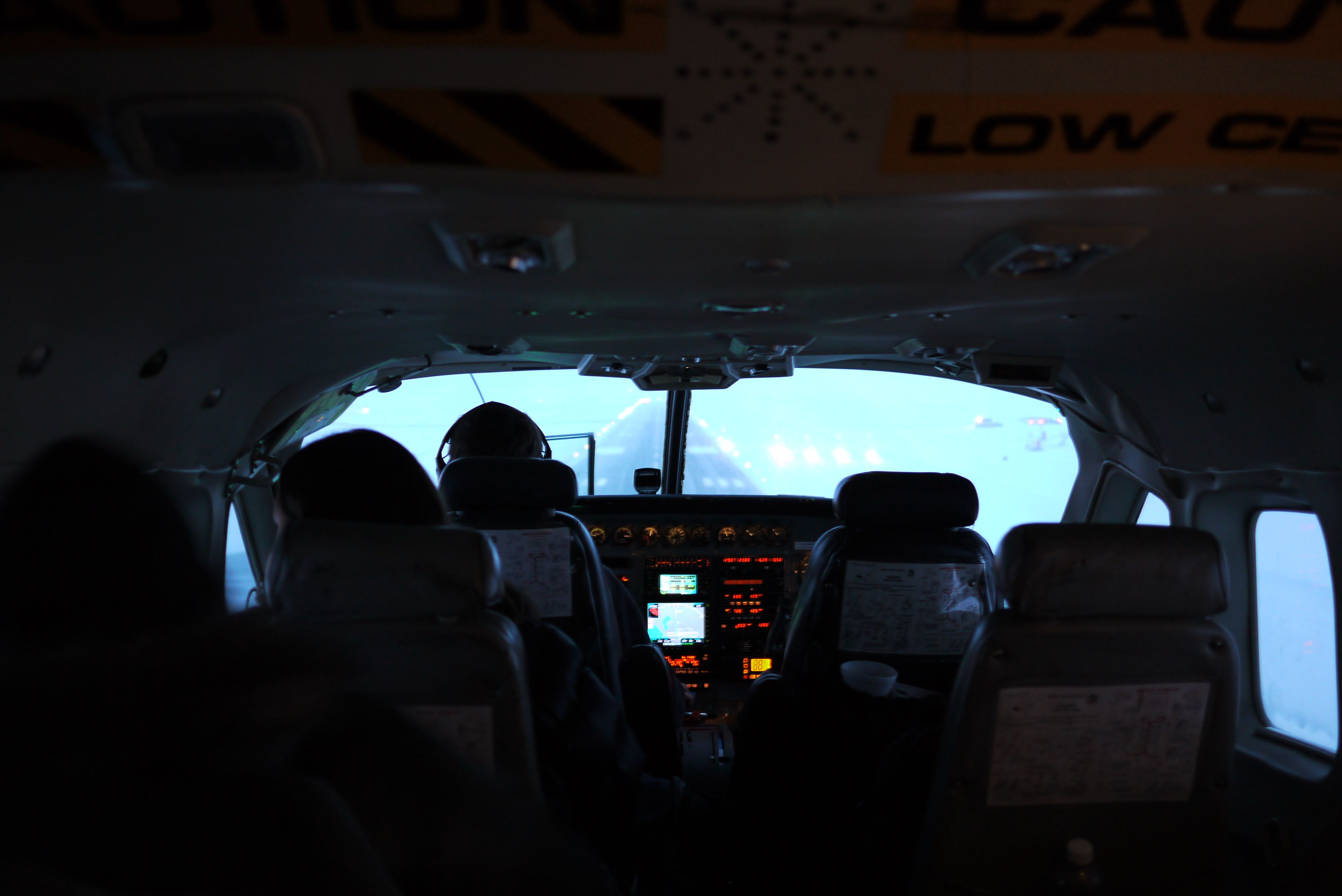 Landing at Barrow Airport. The Cessna 208 Caravan, where everyone gets a front window seat.