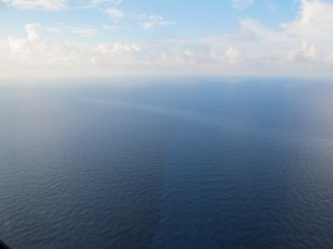 Oil sheen in the Gulf of Mexico, as seen on Sept. 21, 2012. (NOAA photo)