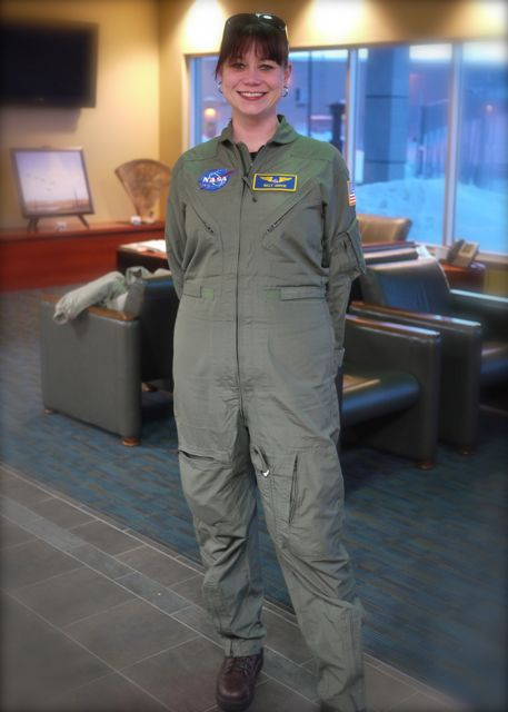 Green for winter, because NASA doesn't wear their Khaki jumpsuits after Labor Day.