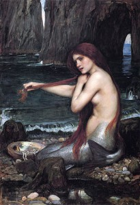 Mermaids can't exist because if they did not freeze to death they would be constipated