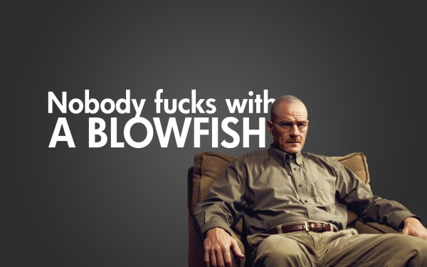 Always the scientist, Walter White applies the Spotted Porcupine Fish's defensive morphology to his trade.
