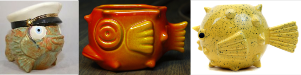 Nothing tastes better then a Mai Tai sipped from a stylized Porcupine Fish mug.  Tiki Mahalo (left), Munktiki, center and right.