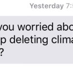 Are you worried about Trump deleting climate data?