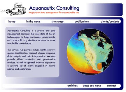 Aquanautix new website by Melloweb Design