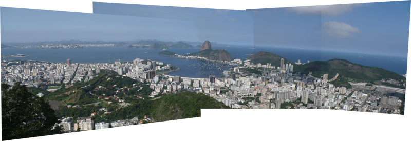 Panorama stithced together in Photoshop. Rio de Janeiro from Parque Nacional de Tijuca.