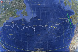 Track of the Scarlet Knight across the Atlantic