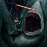 Batman + Lightsaber + Shark. That is all.