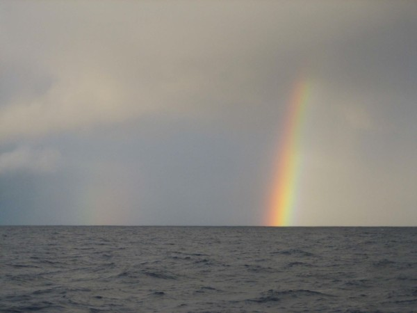 Double rainbow in the Gyre! Everything's under control! Until we get back to shore...