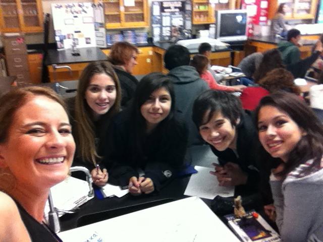Mar Vista H.S. students #scienceselfie