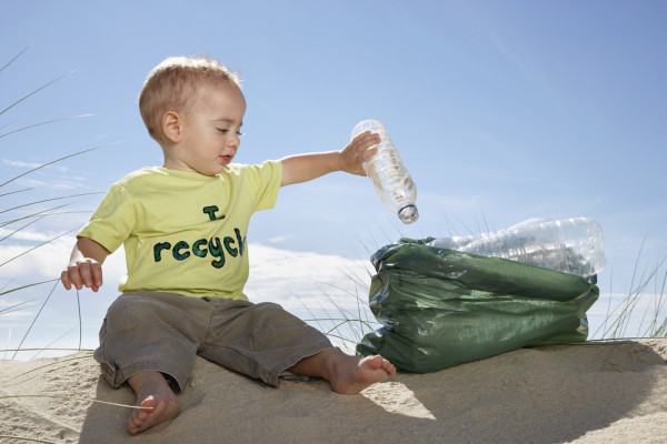 Having trouble recycling? Let this totally not posed  for shutterstock infant help you.