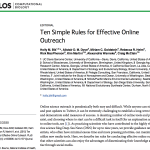 Ten Simple Rules for Effective Online Outreach