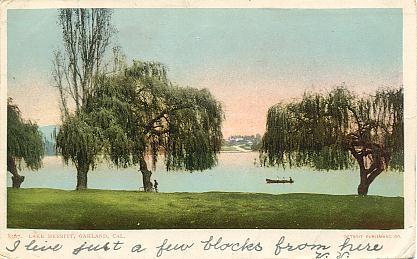 Lake Merritt circa 1900.