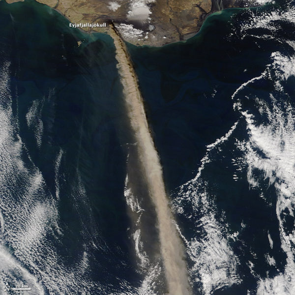 Volcanic ash in jet engines is BAD. SO BAD. Good thing we can see them from space.